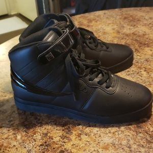 Fila Black High Top Sneakers